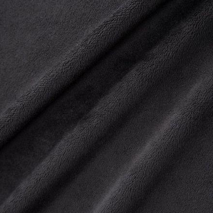 Tissu Minky Ultra doux Ras Noir x10cm