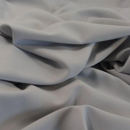 Tissu Crêpe Georgette Gris pierre x10cm
