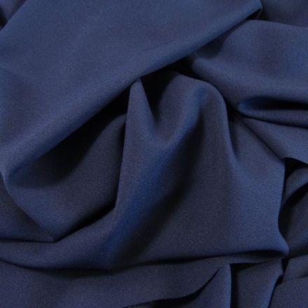 Tissu Crêpe Georgette Bleu marine x10cm
