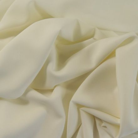 Tissu Crêpe Georgette Ivoire x10cm