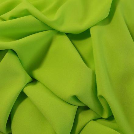 Tissu Crêpe Georgette Vert anis x10cm