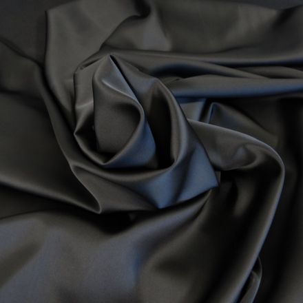 Tissu Satin Duchesse Noir x10cm