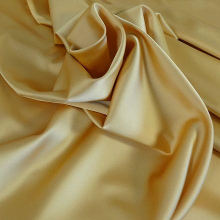 Tissu Satin Duchesse Jaune dorée x10cm