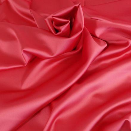 Tissu Satin Duchesse Corail x10cm