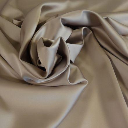 Tissu Satin Duchesse Grège x10cm