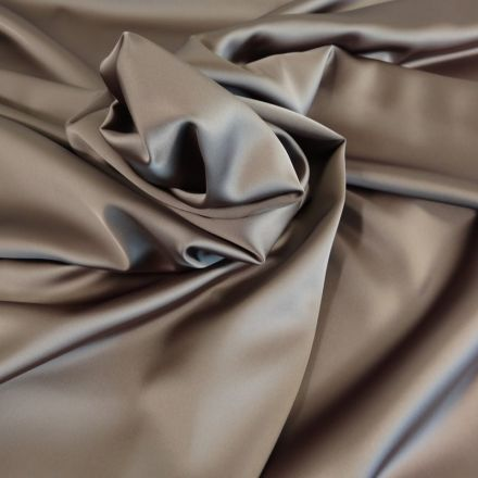 Tissu Satin Duchesse Taupe x10cm