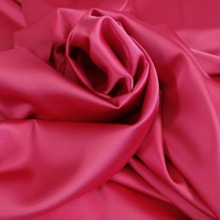 Tissu Satin Duchesse Rose fuchsia x10cm