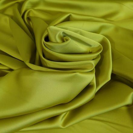 Tissu Satin Duchesse Jaune vert x10cm