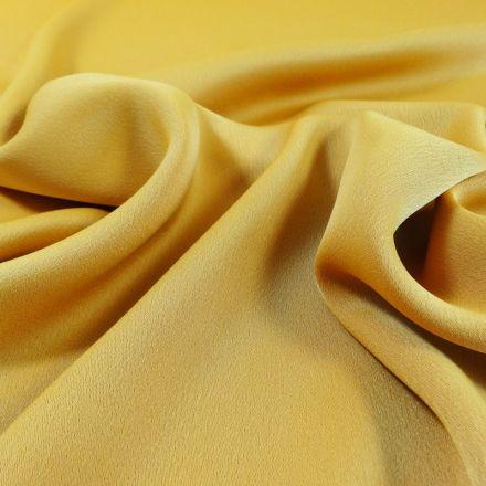 Tissu Crêpe satin mat Jaune Orangé x10cm