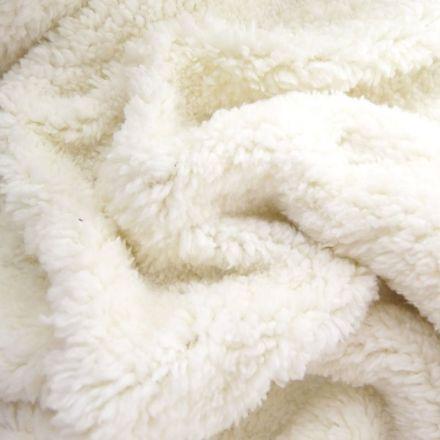 Fausse fourrure mouton Ecru - Par 10 cm