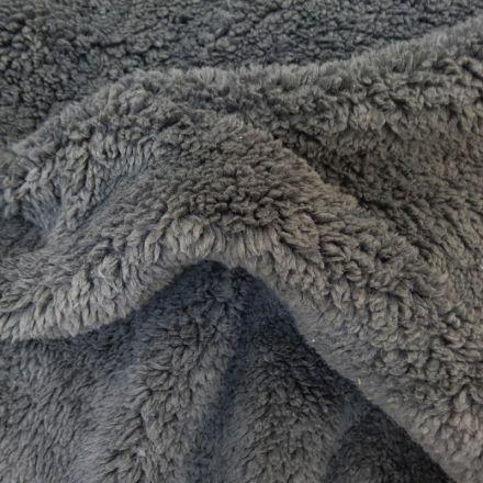 Fausse fourrure mouton Gris anthracite - Par 10 cm