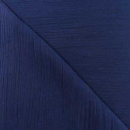 Tissu Crépon Bleu marine x10cm