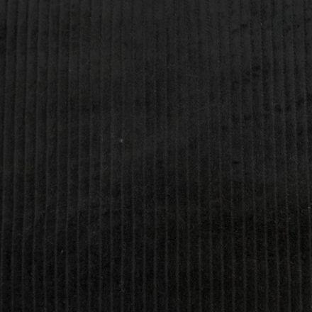 Tissu Velours Grosses côtes Noir x10cm