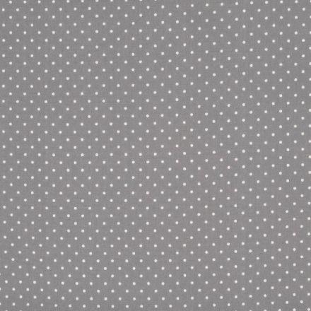 Tissu Coton Gris Pois blancs x10cm