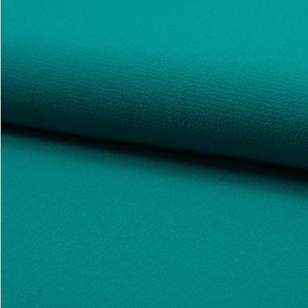 Tissu Crêpe stretch Vert emeraude - Par 10 cm