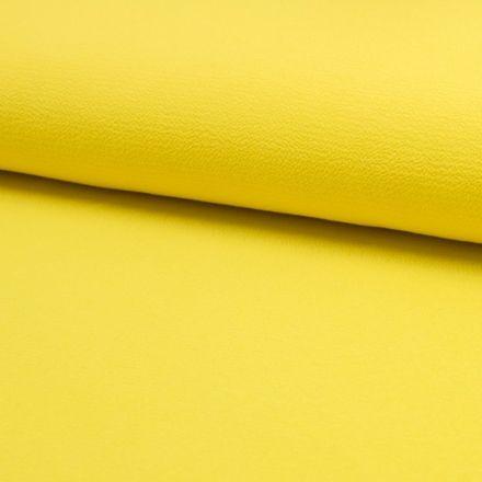 Tissu Crêpe stretch Jaune citron - Par 10 cm