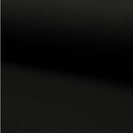 Tissu Drap de manteau Noir - Par 10 cm