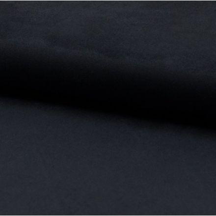 Tissu Suédine jersey Bleu marine - Par 10 cm