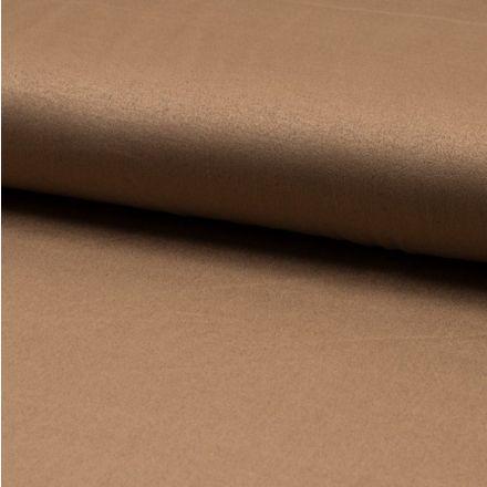 Tissu Suédine jersey Camel - Par 10 cm