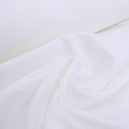 Tissu Batiste Blanc - Par 10 cm
