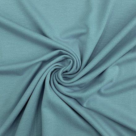 Tissu Jersey Viscose uni bleu céladon x10cm