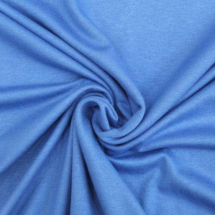 Tissu Jersey Viscose uni Bleu Provence x10cm
