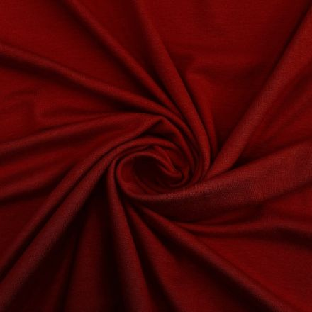 Tissu Jersey Viscose uni Bordeaux x10cm