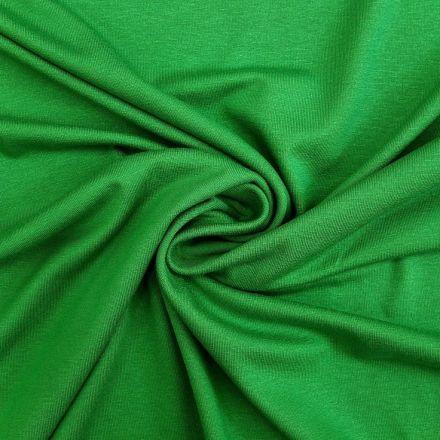 Tissu Jersey Viscose uni Vert gazon x10cm