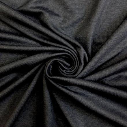 Tissu Jersey Viscose uni Gris anthracite x10cm