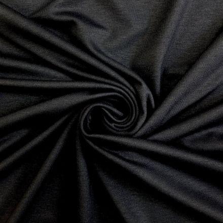 Tissu Jersey Viscose uni Noir x10cm