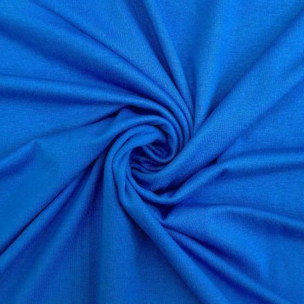 Tissu Jersey Viscose uni Bleu azur x10cm