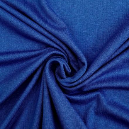Tissu Jersey Viscose uni Bleu roi x10cm