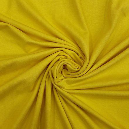 Tissu Jersey Viscose uni Jaune x10cm