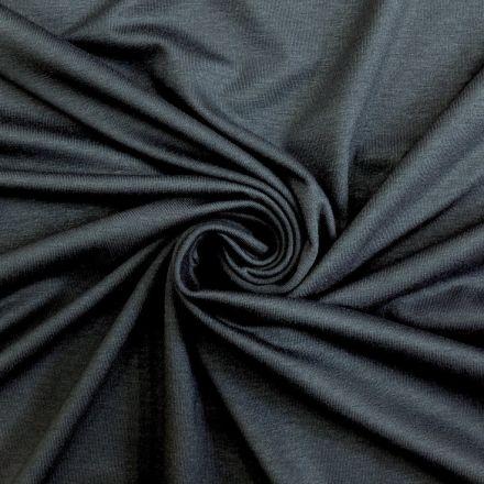 Tissu Jersey Viscose uni Gris bleu x10cm