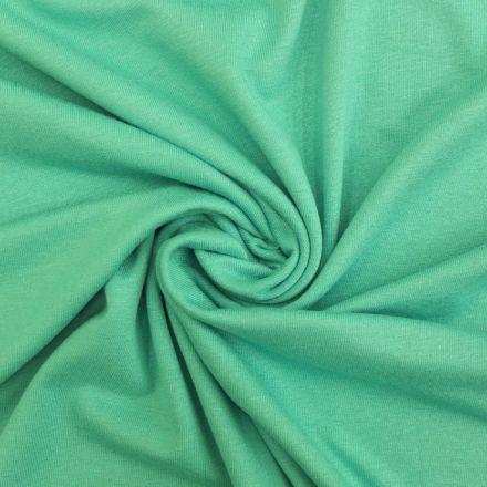 Tissu Jersey Viscose uni Vert menthol x10cm