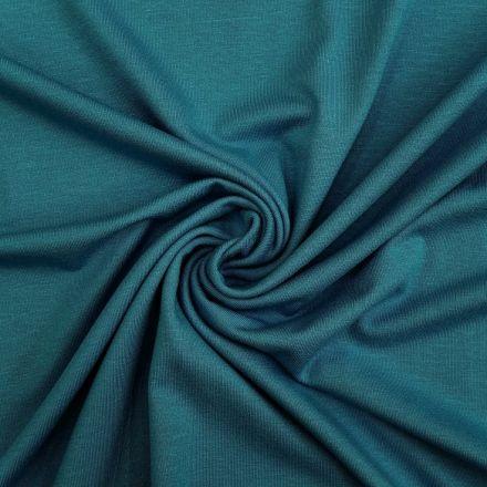 Tissu Jersey Viscose uni Pétrole x10cm