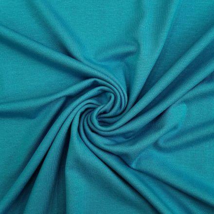 Tissu Jersey Viscose uni bleu turquoise x10cm