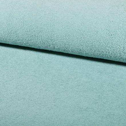 Tissu Eponge légère 320 g/m² Vert pastel - Par 10 cm