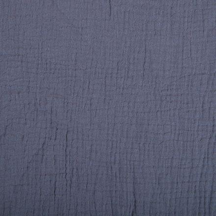 Tissu Double gaze de coton uni Taupe - Par 10 cm