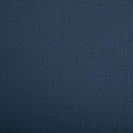 Tissu Double gaze de coton uni Gris ardoise - Par 10 cm