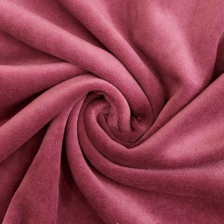 Tissu Jersey Velours tout doux fuschia x10cm