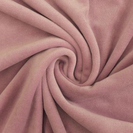 Tissu Jersey Velours tout doux Parme x10cm