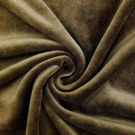 Tissu Jersey Velours tout doux Chocolat x10cm
