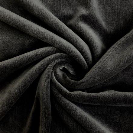 Tissu Jersey Velours tout doux Noir x10cm