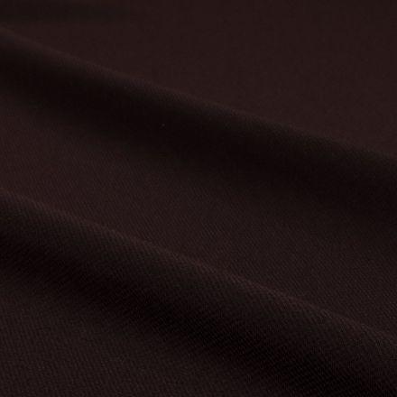 Tissu Mousseline uni Chocolat - Par 10 cm