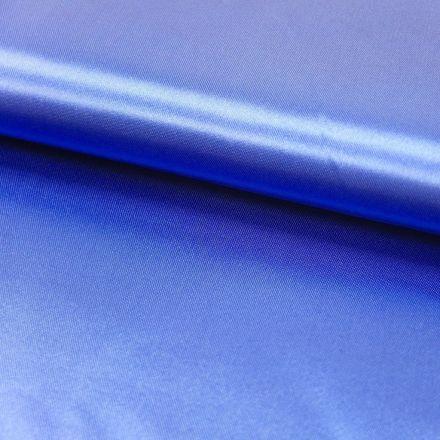 Tissu Satin uni Bleu outremer x1m