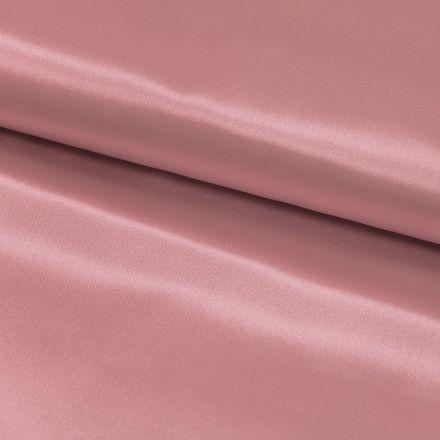 Tissu Satin uni Rose pastel x1m