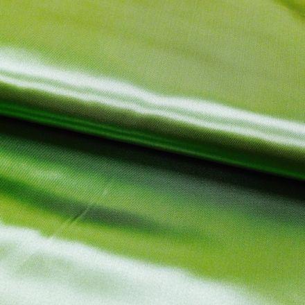 Tissu Satin uni Vert pomme x1m