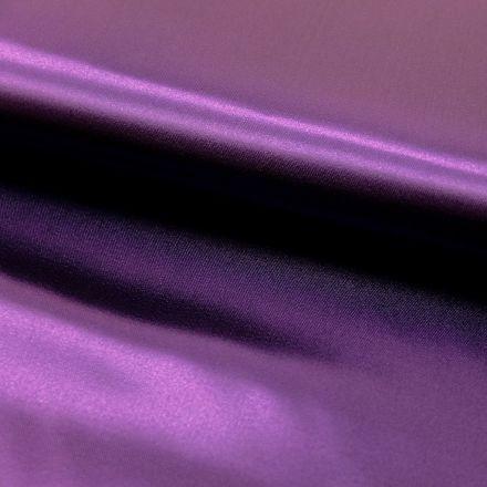 Tissu Satin uni Violette x1m