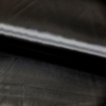 Tissu Satin uni Noir x1m